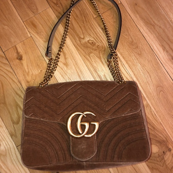 8bb3d72b533 Gucci Handbags - Gucci GG Marmont Velvet Medium Shoulder Bag